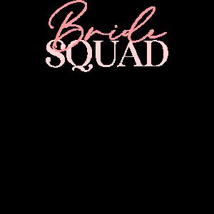 bride squad w print