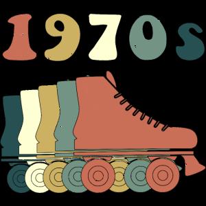 70er Jahre Vintage Roller Skates - Rollschuhe