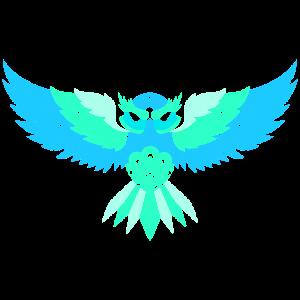 Eule Mandala Wappen Vogel Kunst Gaming Geschenk