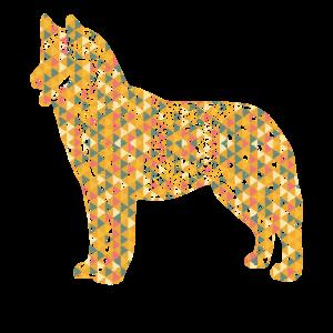 Siberian Husky Geometric Shirts