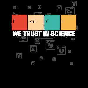 We Trust In Science Fauci, Wissenschaftsliebhaber