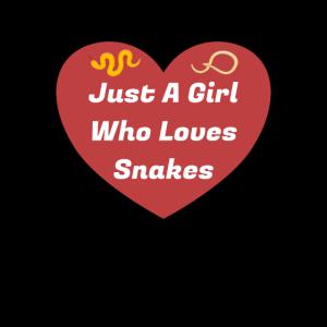 Nur ein Mädchen, das Schlangen Tier liebt