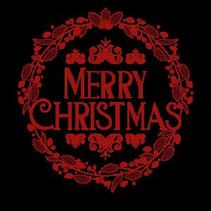 Merry Christmas Pretty Logo Christmas Present