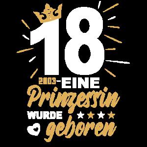Geburtstag Prinzessin - 18. Geburtstag Volljährig