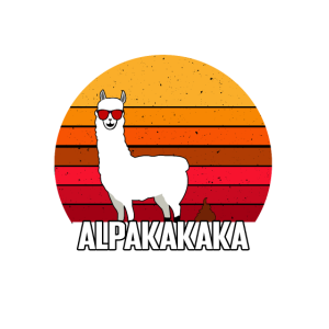 Sonnenuntergang mit Alpaka