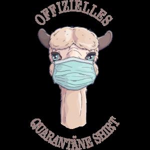 Offizielles Quarantäne Shirt Lama