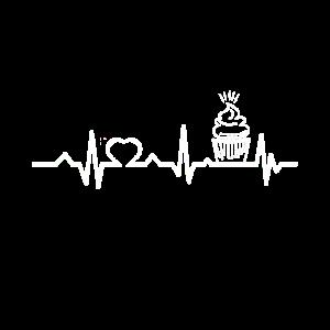 Cupcake Muffin Kuchen Herzschlag Herz Geschenkidee
