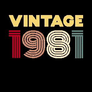 Vintage 1981 - Jahrgang 1981 40 Geburtstag
