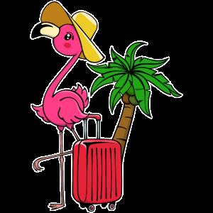 Flamingo Urlaub Ferien Palmen Karibik Reisen Fun