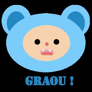 Blauer Kinderbär
