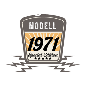 Modell 1971 Original Oldtimer Badge 50 Geburtstag
