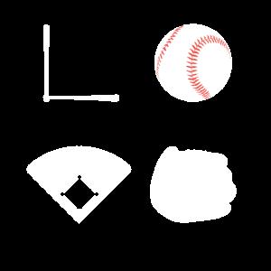 Love Baseball Liebe Softball Lieben Sport Geschenk