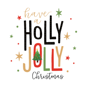 Ich wünsche Holly Jolly Christmas