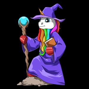 Lustigs Magier Einhorn für einen Einhorn Magier