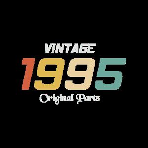 Vintage 1995 Originalteile Tee Geburtstagsgeschenk Retr