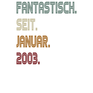 Fantastisch 2003 - 18 Geburtstag Volljährig Party