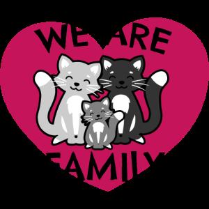 Tierfamilie Tierkind Katzenfamilie Geschenkidee