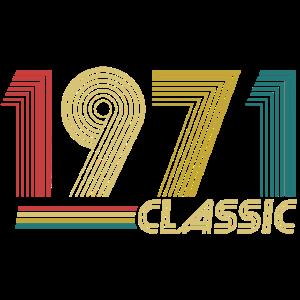 1971 Classic Retro Geburtstag Geschenk