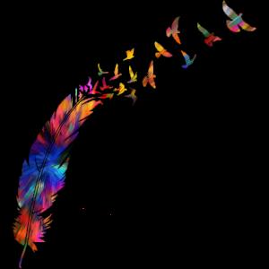 mehrfarbige Feder