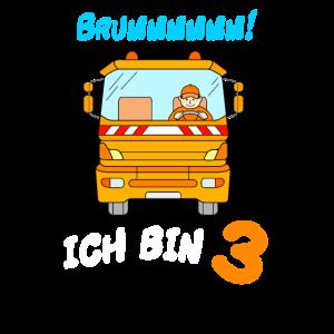 Müllauto 3. Geburtstag Müllabfuhr Junge 3 Jahre