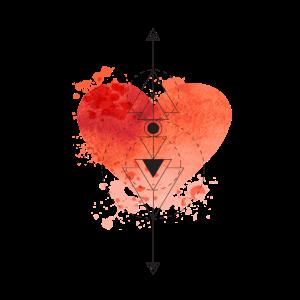 Boho Herz Herzchen Watercolor Valentinstag
