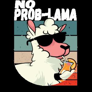 No Problama Witziges Lama Alpaka Geschenk