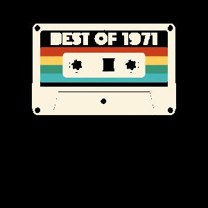50 Geburtstag Vintage Best Of 1971 Retro Kassette