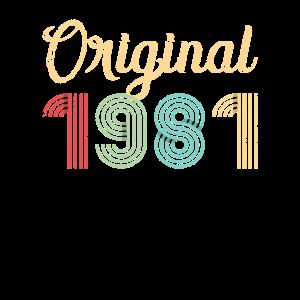 Original 1981 Geburtstag Geschenk 40 Jahre