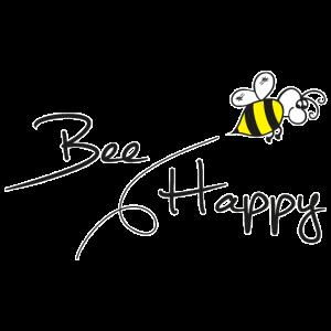 Bee Happy Spruch Geschenk Umweltschutz Imker