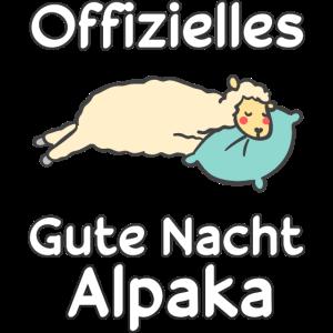 Schlaf Alpaka Sprüche Nachthemd Geschenkidee