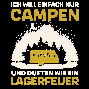Ich Will Campen für Camper Wohnwagen Camping