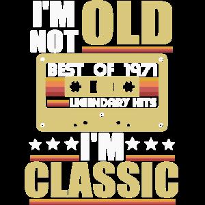 Jahrgang 1971 Klassiker Geburtstag Retro Kassette