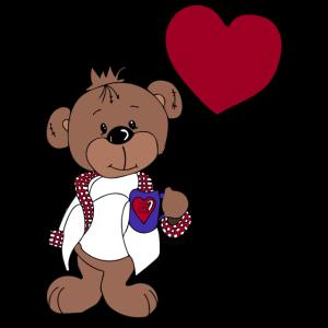 Valentinstag Kaffee Teddybär