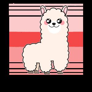 Niedlich Alpaka Pink Lama