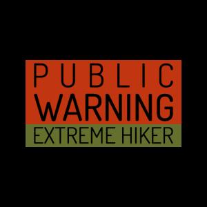 Warnung Extremer Wanderer Bergsteiger Sport