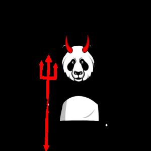 satan teufel loves me panda teuflisch hölle liebt