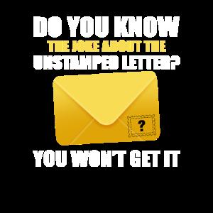 Mailman Joke Unstamped Letter Postal Worker Mail