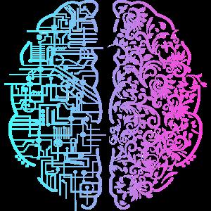 Linkes Gehirn rechts Gehirn