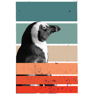 Lustiges Pinguin Penguin Stripes Geschenk