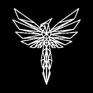 Polygon Phoenix Phönix Vogel Adler Design Geschenk