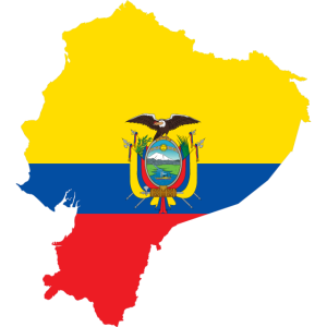 Ecuador Landkarte Fahne Flagge