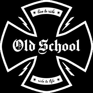 Old School biker cross - ncd-shirts.de