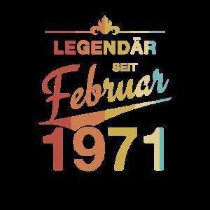 Legendär 50. Geburtstag Jahrgang Februar 1971