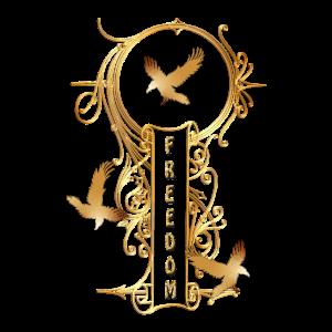Golden Key Freiheit Dekoration Ornament