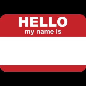 Namensschild Namen Personalisieren Geschenk
