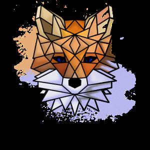 Farbenfroher Polygon Fuchs