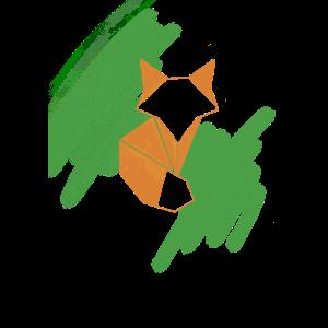 Geometrischer Origami-Fuchs