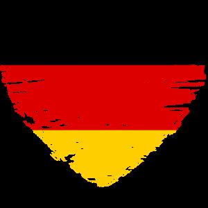 Deutschland Herz Flagge Fahne Wappen