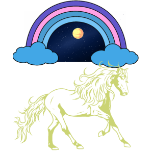 Pferd Mondschein himmlisch Fantasy Reiter Traum