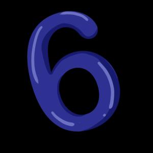 Nummer 6 Ziffer Sechs